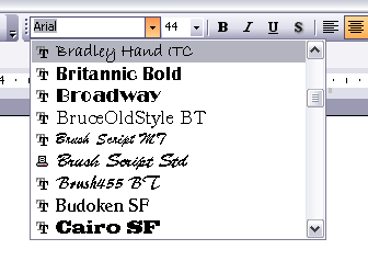 Font Preview PowerPoint