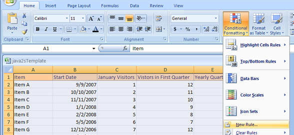 Easy viewing for your spreadsheets – shading alternate rows