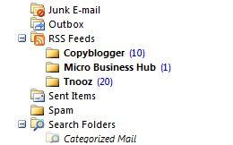 RSS feed folder