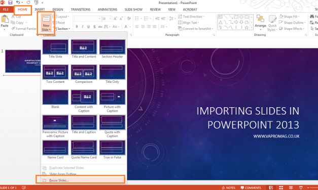 How to reuse old slides in a new Powerpoint presentation