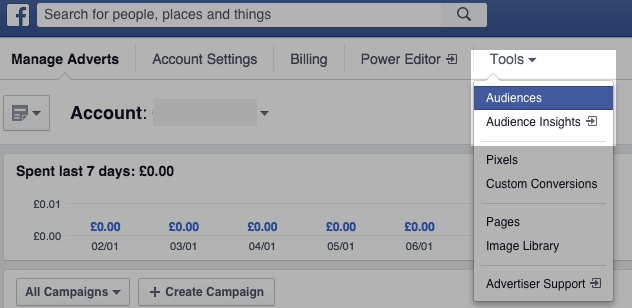 How to create a Facebook custom audience from a list of customers