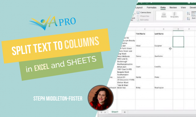 Separate Data into Columns in Excel or Google Sheets
